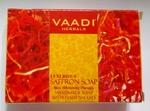 Мыло аюрведическое отбеливающее Роскошный шафран, Vaadi Herbal, 75г