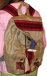 Рюкзак из мешковины,  в этническом стиле , Украина