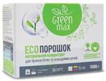 Бесфосфатный порошок-концентрат для стирки белых и цветных вещей,1кг, Green Max